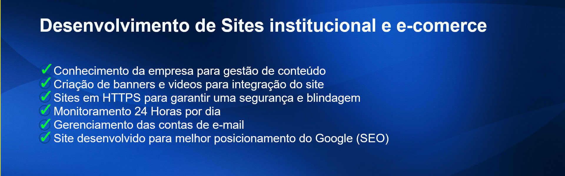 Desenvilvimento de Sites institucional e e-comerce
