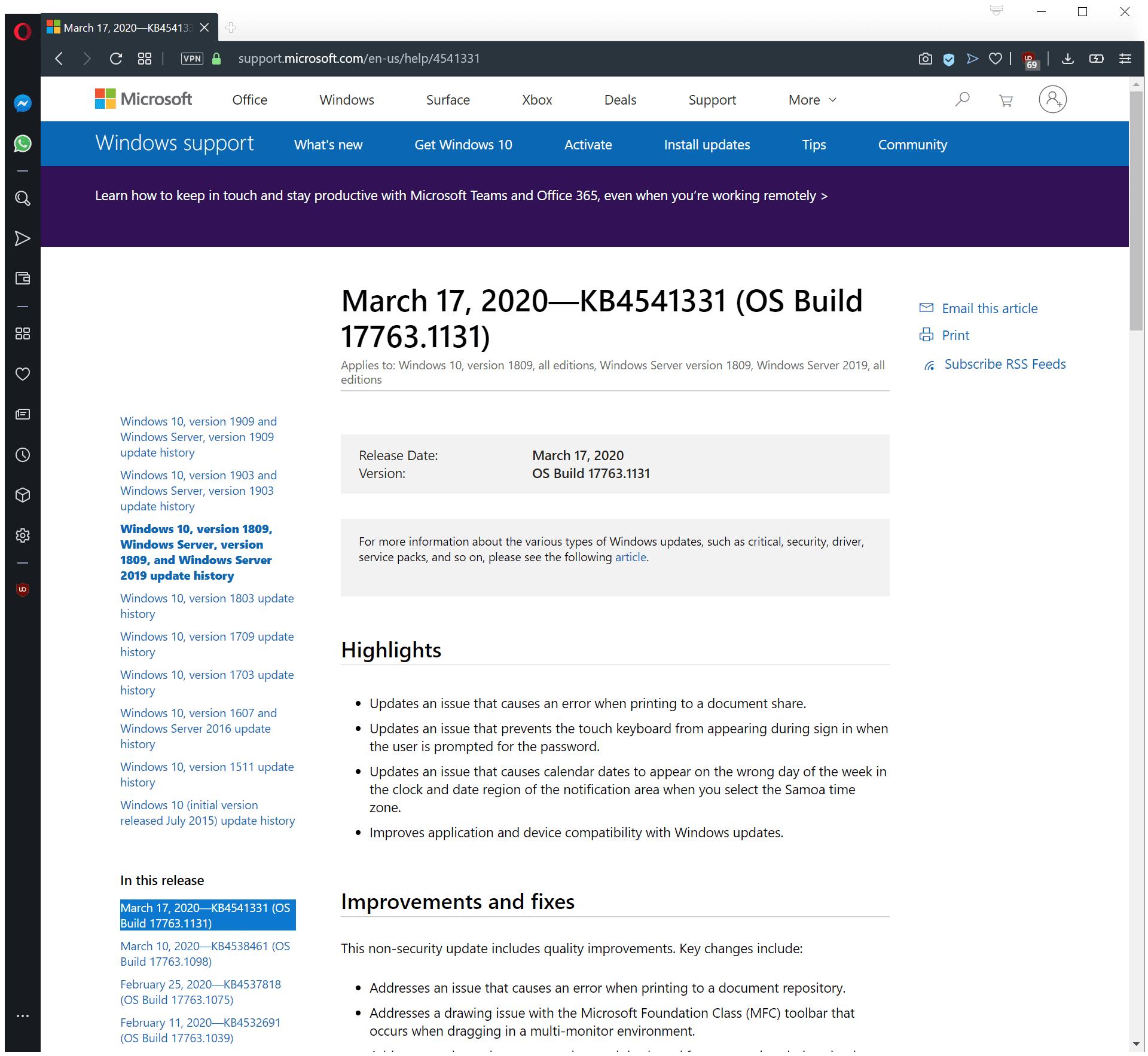 Atualizações Windows Update